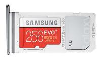 Samsung Galaxy S8 (EDGE), SIM und Speicherkarte einsetzen, Schritt 4, SIM-USIM-oder Speicherkarte in Kartenhalter einsetzen