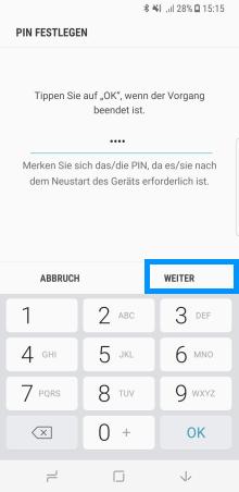 Samsung Galaxy Note8 (DUOS) und S8/S8+, Iriserkennung
