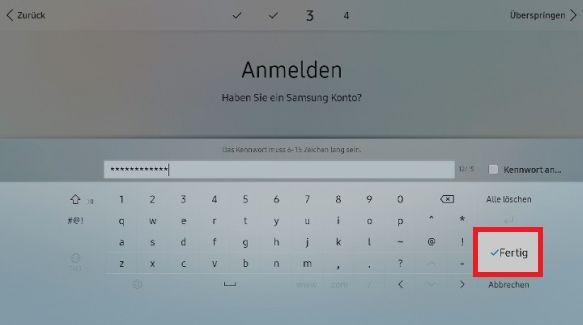 Samsung Smart QLED TV, drahtlose Internetverbindung herstellen