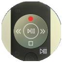 Samsung Smart TV, Aufnahmefunktion (PVR-Funktion), Ausstattung und Aufnahmefunktion (PVR) unter technische Daten, Play/Pause-Taste der 2017er und 2016er Serie