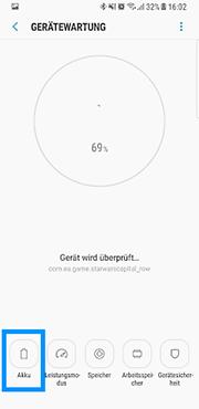 Samsung Galaxy S8/S8plus, Akkulaufzeit verbessern