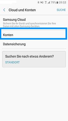 Google Account auf Samsung Galaxy S7 einrichten, Schritt 2