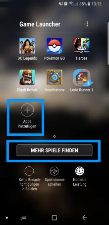 Mehr Spiele im Samsung Game Launcher finden