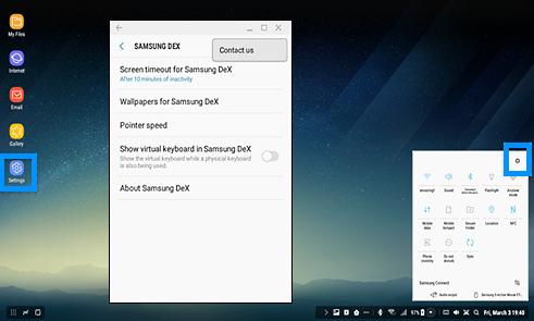 Wo finde ich die Samsung DeX-Einstellungen?