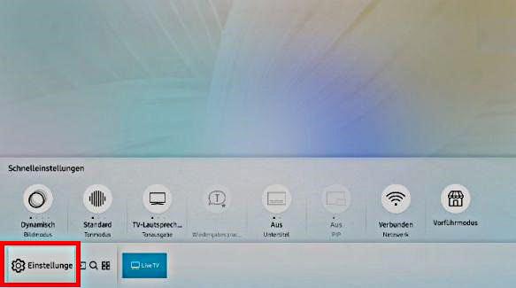 Samsung QLED Smart TV, automatische Schutzzeit Bildschirmschoner einstellen