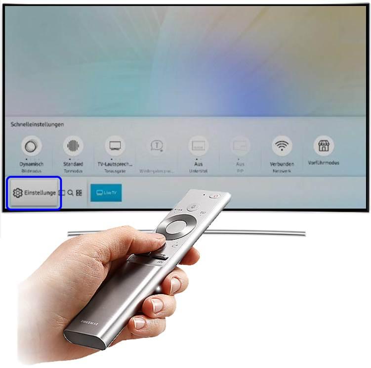 Blueetoth-Kopf mit QLED TV koppeln