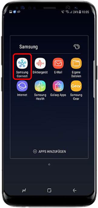 Bild von QLED TV auf Samsung Smartphone streamen, Samsung Connect App
