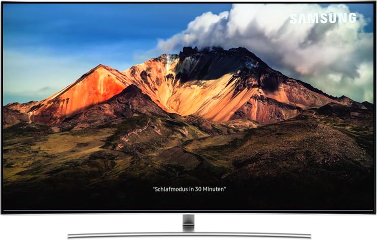 Bildschirm von Samsung QLED Smart TV