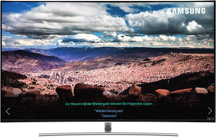 Bildschirm von Samsung QLED Smart TV 2