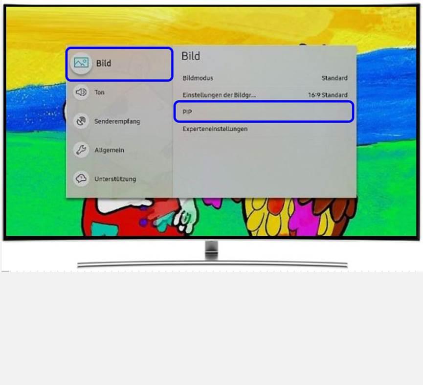 Samsung QLED TV, Einstellungen, Bild, PIP