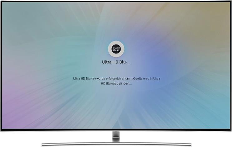 Lademaske, QLEV TV erkennt die Quelle