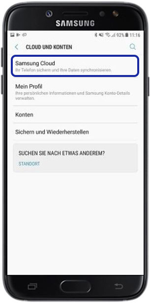 Backup aus Samsung Cloud aufspielen, Samsung Cloud