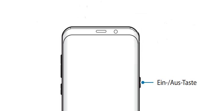 Schnellstart mit Ein/Aus-Taste auf Samsung Galaxy Note8