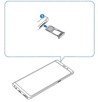 Kartenhalter in Samsung Galaxy Note8 wieder einsetzen
