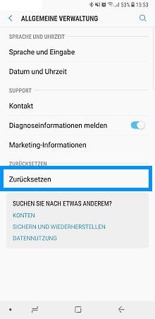 Wie kann ich mein Galaxy Note8 zurücksetzen?