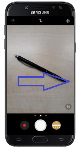 Fotoserie auf Samsung Galaxy J5 erstellen, Kamera-Ansicht