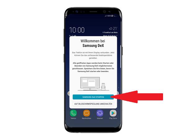 Samsung DeX Station einrichten, Schritt 4