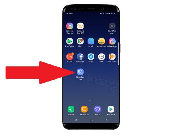 Samsung DeX Station, Bildschirm spiegeln, Einstellungen