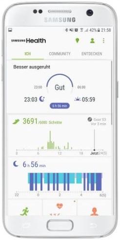 Wie kann ich Samsung Health als Schrittzähler nutzen?