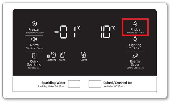 Samsung-Kühlschrank, Kühlfachtemperatur einstellen