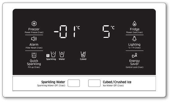Samsung-Kühlschrank stufenweise einstellen