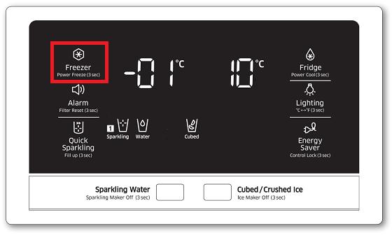 Samsung-Kühlschrank, Gefrierfachtemperatur einstellen