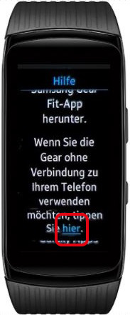 Wie richte ich meine Samsung Gear Fit2 Pro ohne ein Smartphone ein?