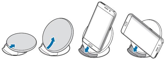 Samsung Galaxy S6 (edge/edge+), induktive Ladestation mit Telefonstütze