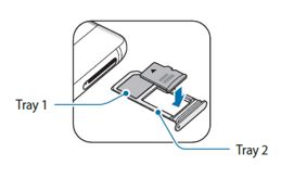 Placer et hukommelseskort i holder 2, så de guldfarvede kontakter vender nedad