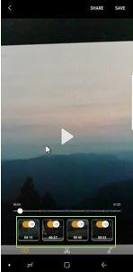 Vælg en superslow-sekvens i videoen