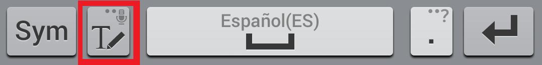parte baja del teclado