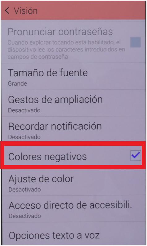 colores negativos