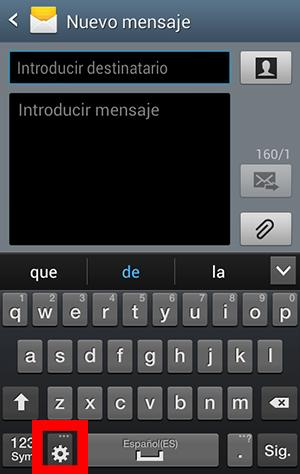 ajustes del teclado
