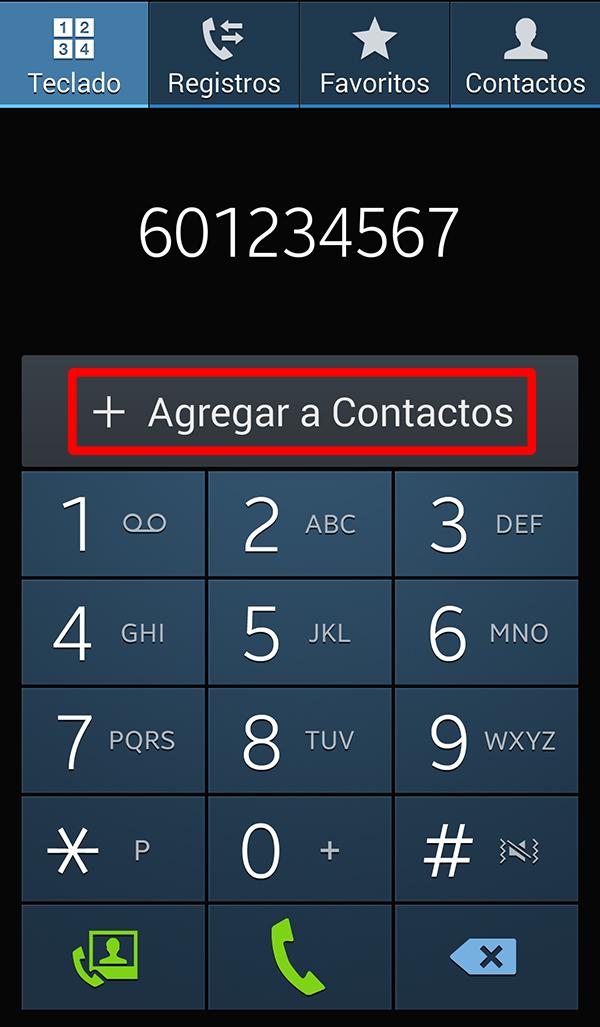 Agregar a contactos
