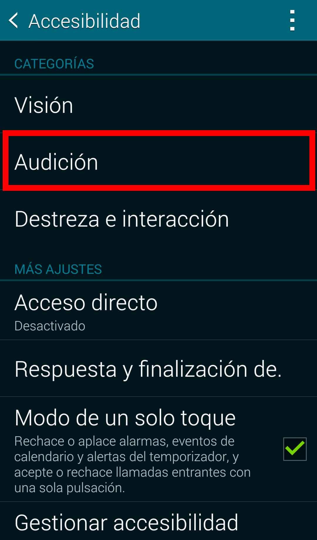 audición