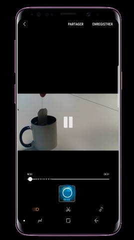 Sélectionnez la section super-ralenti de la vidéo