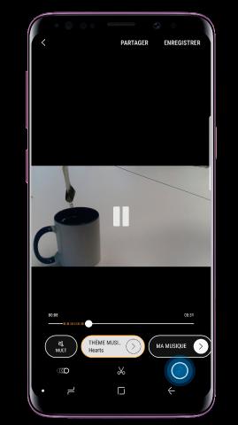 Si vous souhaitez modifier la musique de fond, appuyez sur l'icône de musique (note musicale)