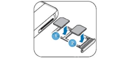 Pour les modèles de cartes uniques : Posez la carte SIM ou USIM dans le plateau les contacts dorés orientés vers le bas