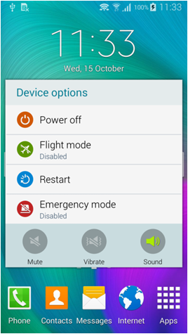 choose emergency mode
