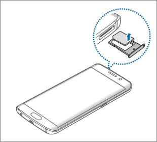 How do I install/remove SIM or USIM card on Galaxy S6 edge?