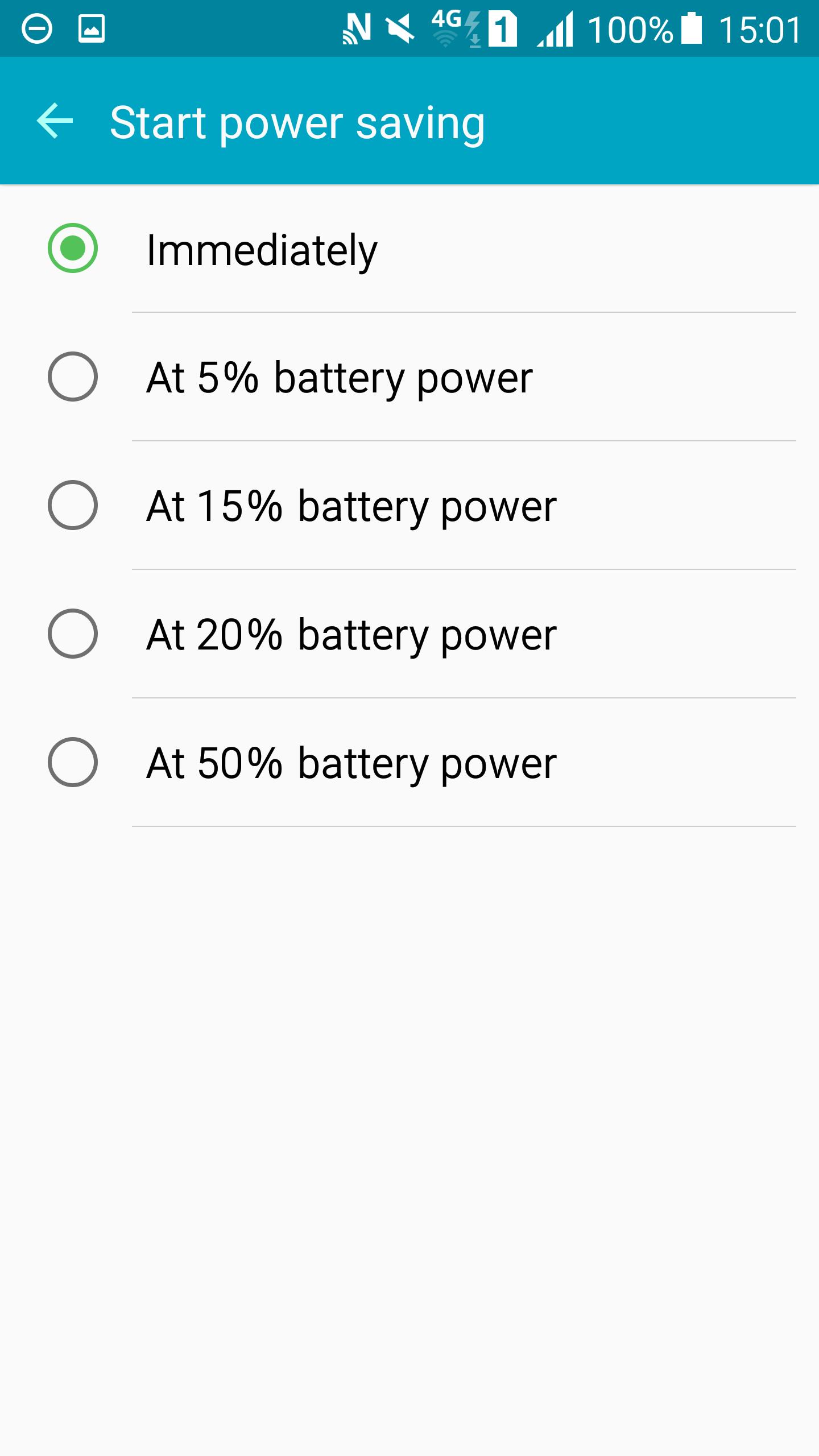 Start power saving time