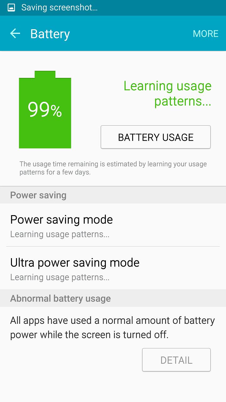Battery Menu