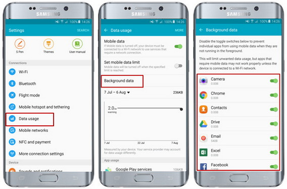 How to prevent apps running background data?