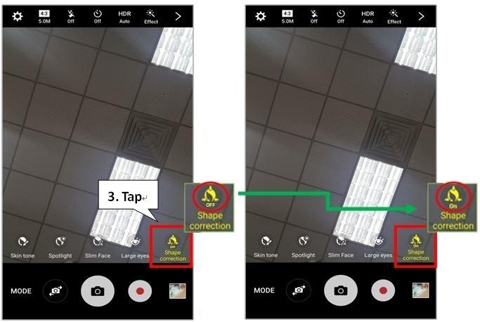 Galaxy S7/S7 edge: How to Turn On Shape Correction?