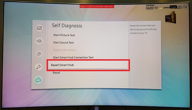 How do I Reset Smart Hub on a Samsung TV?