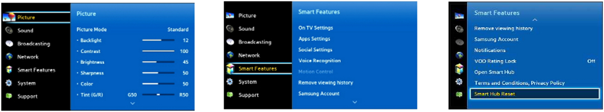 To reset Smart Hub