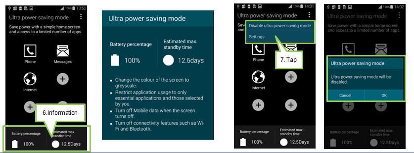 How to set Ultra Power Saving mode