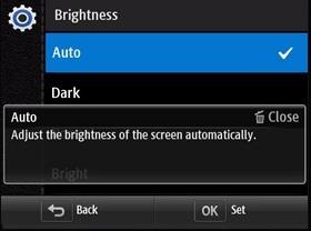 LCD екрна на камері дуже темний