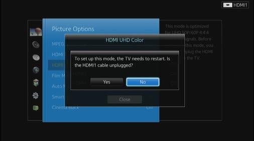 Aveti grija sa decuplati cablul HDMI selectat
