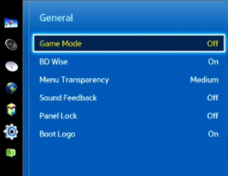 Game mode menu